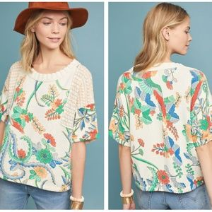 Anthropologie Fabiola Floral Pullover NWT XS